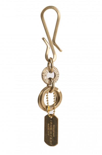 Brass Triple-Ring Keyhook