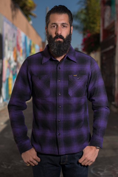 Iron Heart Ultra-Heavy Return of the Purps Ombre Flannel - Workshirt