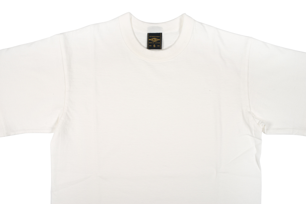 Iron Heart 6.5oz Heavy Loopwheeled T-Shirt - White - Image 3