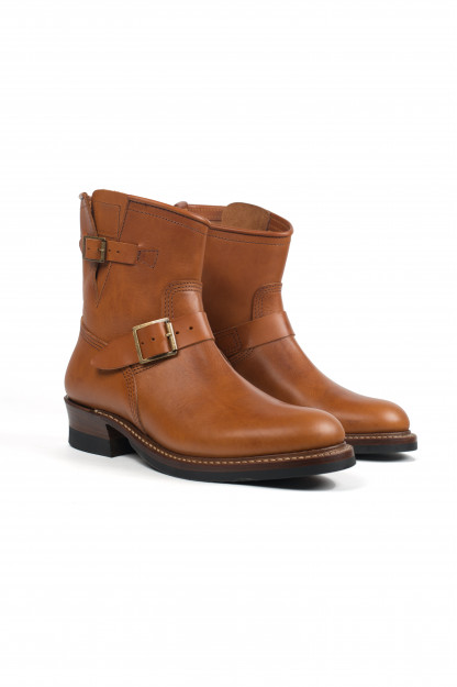 John Lofgren Short Shift Engineer Boot - Cognac Badalassi
