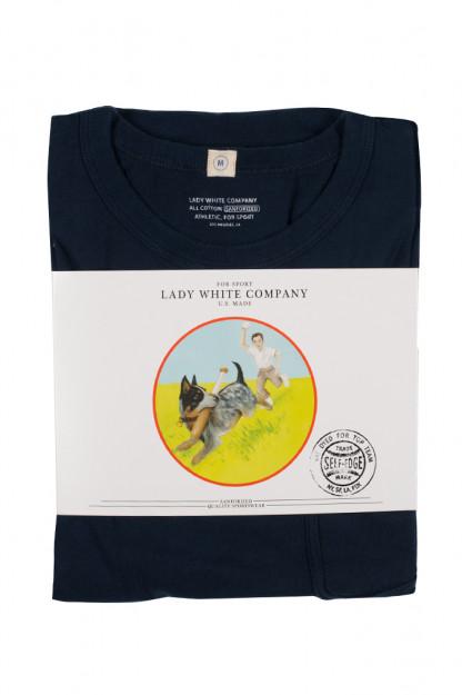 "Lady White Pocket Tee 2-Pack - Black/Navy ""Clark"""