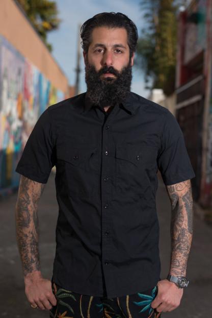 Monitaly Short Sleeve Military Shirt - Vancloth Black