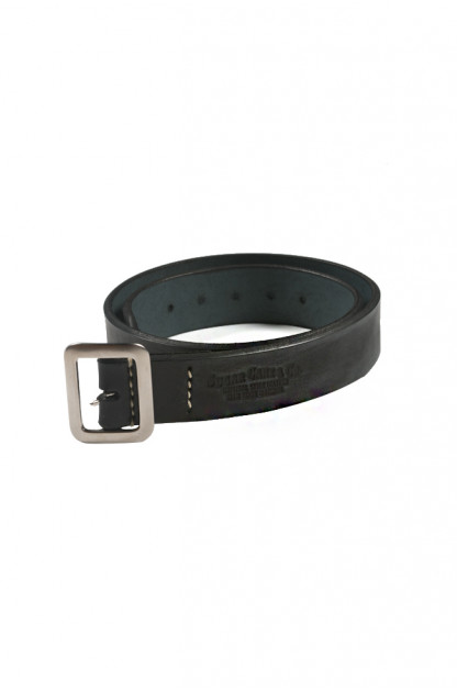 Sugar Cane Cowhide Leather Belt - Black