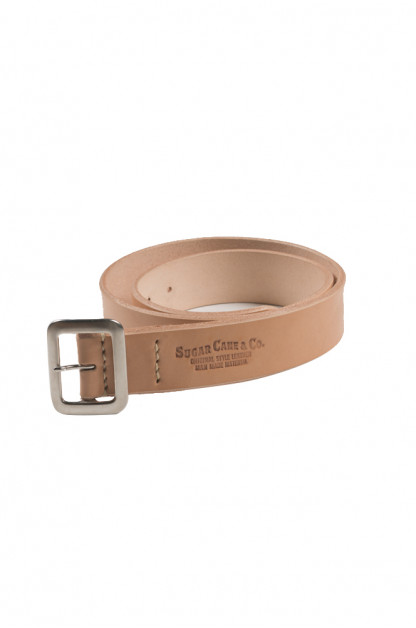 Sugar Cane Cowhide Leather Belt - Tan