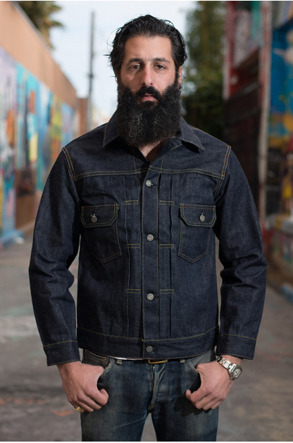Sugar Cane 1953 Type II Unsanforized Raw Denim Jacket - Modified Length