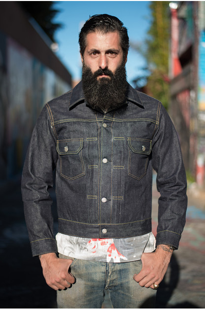 Sugar Cane 1953 Type II Unsanforized Raw Denim Jacket