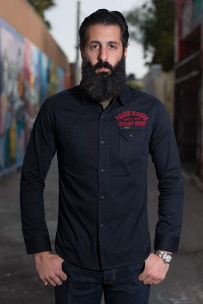Studio D'Artisan Denim Riders Embroidered Workshirt