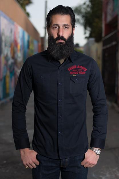 Studio D'Artisan Denim Riders Embroidered Workshirt