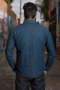 Stevenson Cody Snap Shirt - Washed Down Indigo Denim - Image 2