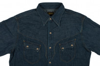 Stevenson Cody Snap Shirt - Washed Down Indigo Denim - Image 3