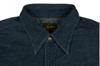 Stevenson Cody Snap Shirt - Washed Down Indigo Denim - Image 5