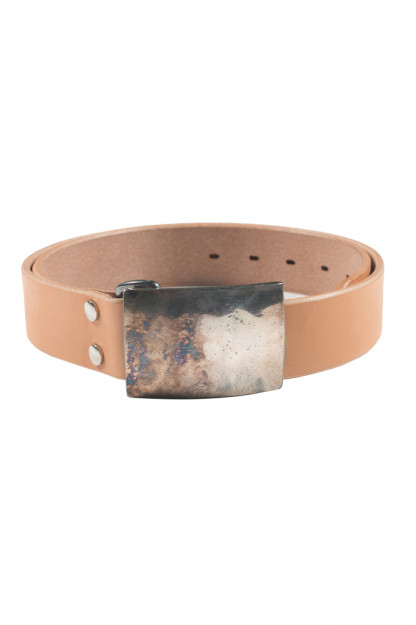 Studio D'Artisan Belt - Steel Buckle Tan