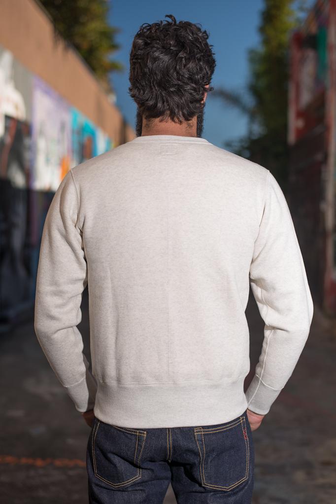 Strike Gold Heavy Loopwheeled Sweatshirt - Oatmeal - Image 5