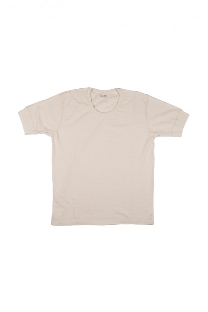 Stevenson Loopwheeled Short Sleeve T-Shirt - Natural