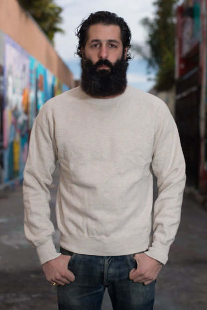 Stevenson Loopwheeled Extra Long Staple Cotton Sweatshirt - Oatmeal