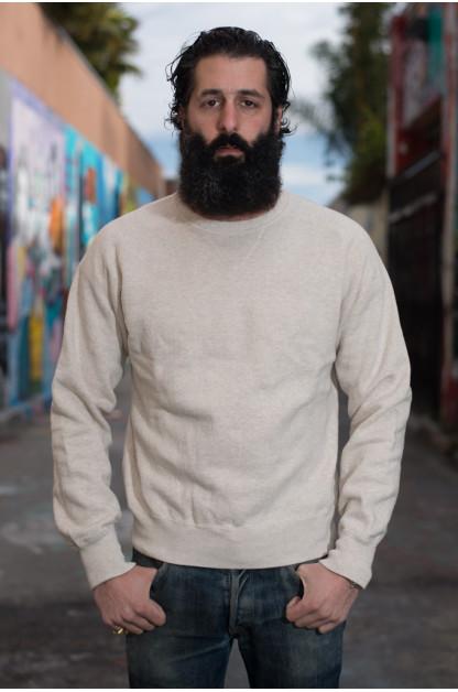 Stevenson Loopwheeled Extra Long Staple Cotton Sweatshirt - Oatmeal