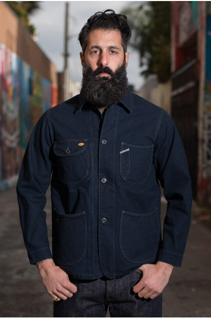 Stevenson Heartland Jacket - Selvedge Indigo/Indigo Canvas