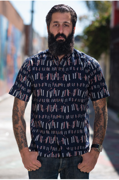 "Sun Surf ""Straight Mambo Time"" Button-Down Shirt"