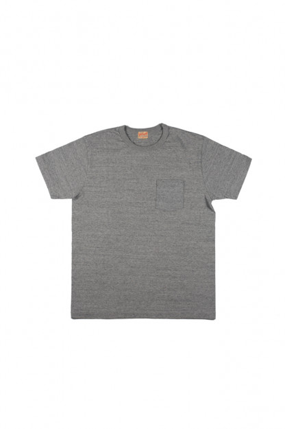 Whitesville Japanese Made Heavyweight Pocket T-Shirt - Gray