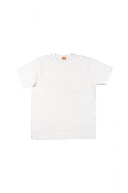 Whitesville Japanese Made Heavyweight Pocket T-Shirt - White