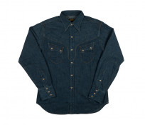 Stevenson Cody Snap Shirt - Washed Down Indigo Denim - Image 4