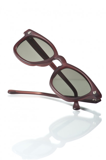 American Optical Modified Sunglasses - Blasted Dark Burgundy
