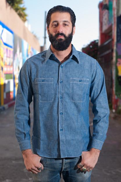 Buzz Rickson USN Chambray Shirt - Indigo