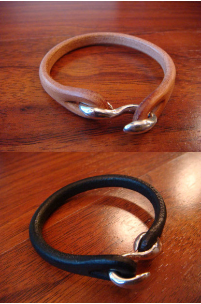 Leather & Silver Bracelet - Single Strand