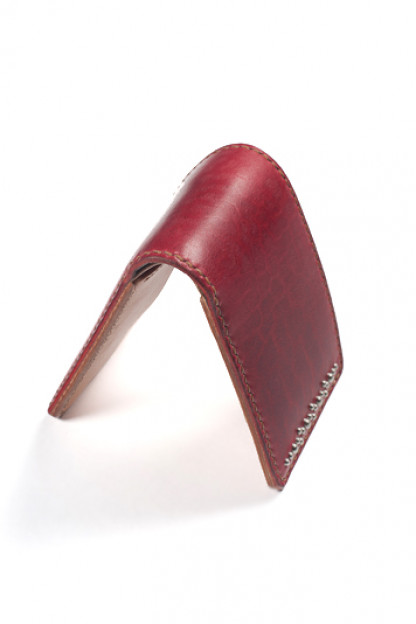 FH Horsehide Bi-Fold Wallet - Red