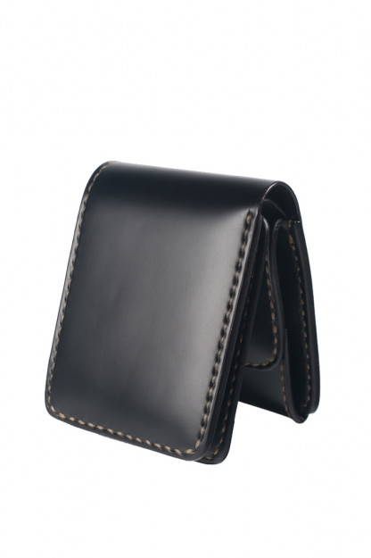 Folding Cordovan Wallet - Black