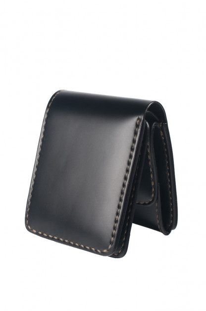 Folding Cordovan Wallet - Black