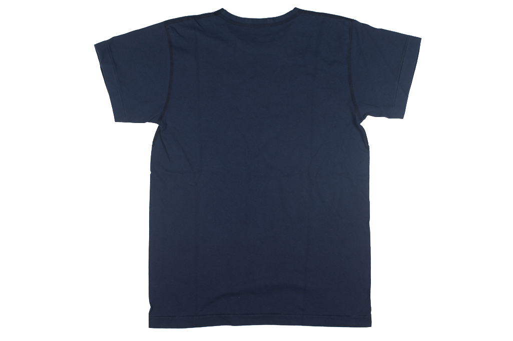 mister freedom blank t shirt navy blue