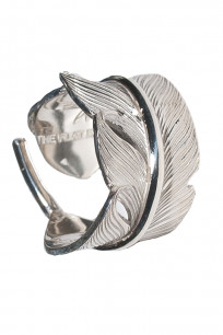 Flat Head Silver Feather Ring - Image 0