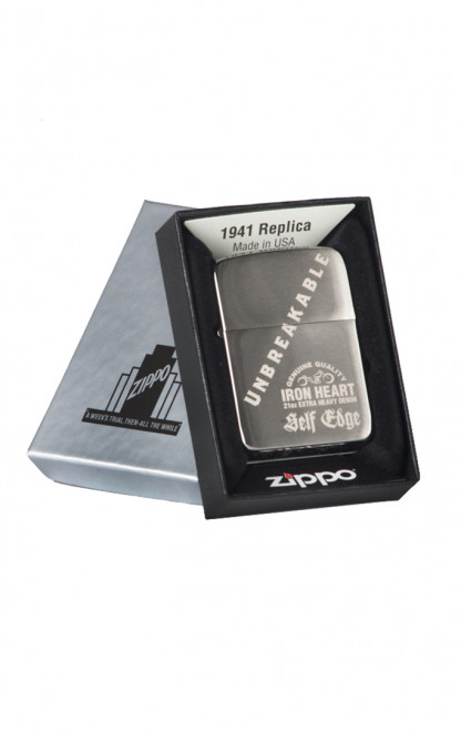 Self Edge x Iron Heart Zippo 1941 Repro Lighter - 'Unbreakable'