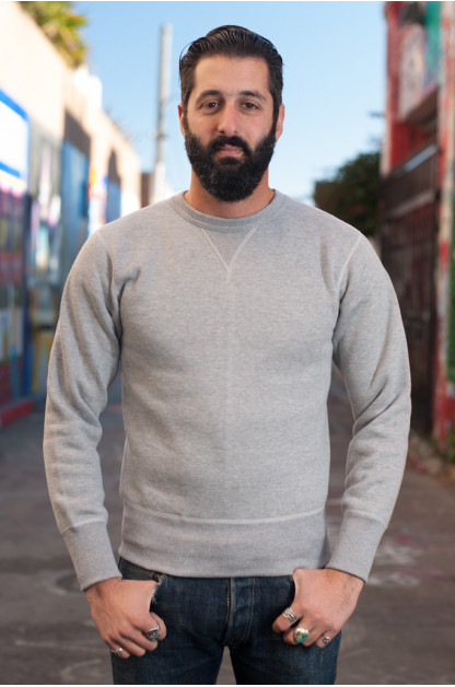 Heavy Loopwheeled Sweatshirt - Heather Gray