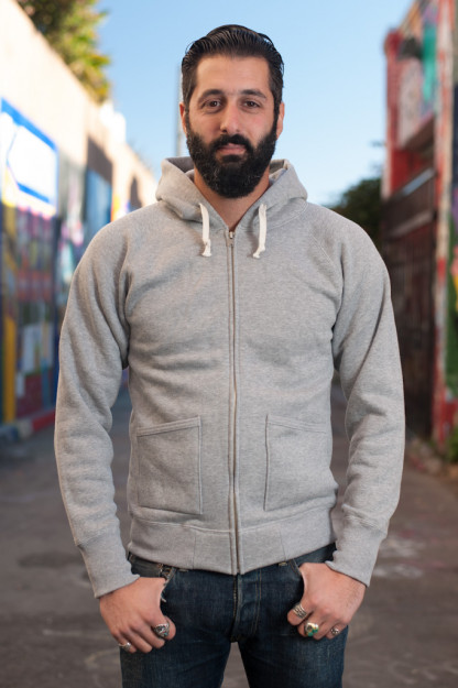 Heavy Loopwheeled Zip Hoodie - Heather Gray