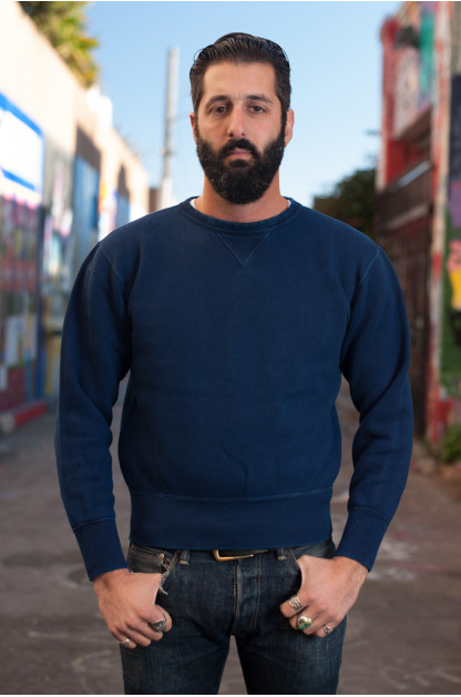 Heavy Loopwheeled Sweatshirt - Indigo Dyed