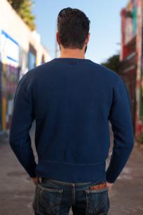 Strike Gold Heavy Loopwheeled Sweatshirt - Indigo Dyed - Image 2