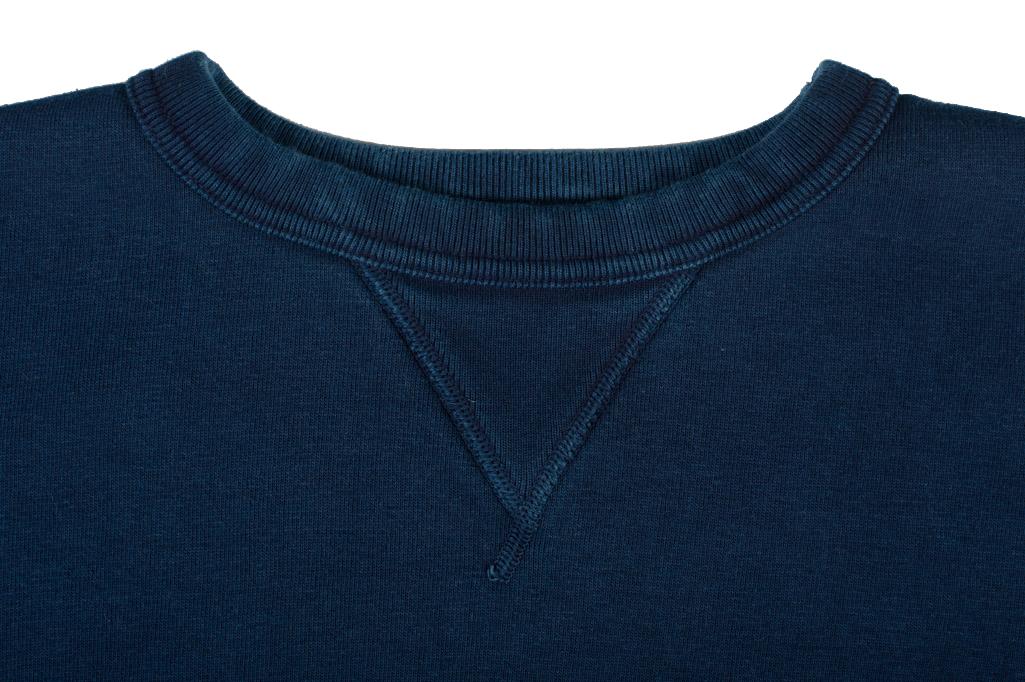 Strike Gold Heavy Loopwheeled Sweatshirt - Indigo Dyed - Image 1