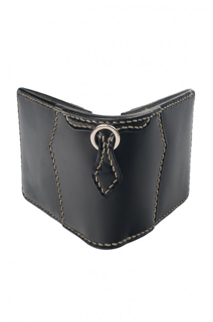 Flat Head for Wild Child Leather & Cordovan Wallet - Black
