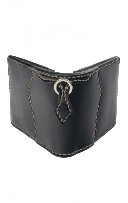 Leather & Cordovan Wallet - Black