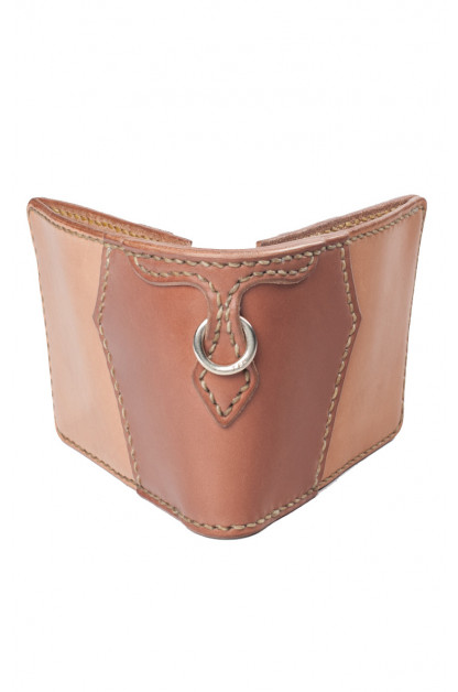 Flat Head for Wild Child Leather & Cordovan Wallet - Tan