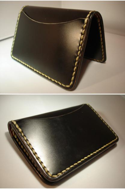 Cordovan Card Case - Black