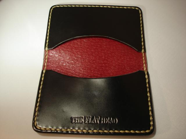 Flat Head Cordovan Card Case - Black - Image 1