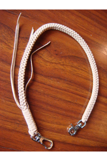 Woven Leather Chain - Tan