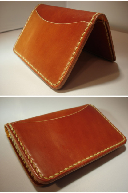 Cordovan Card Case - Tan